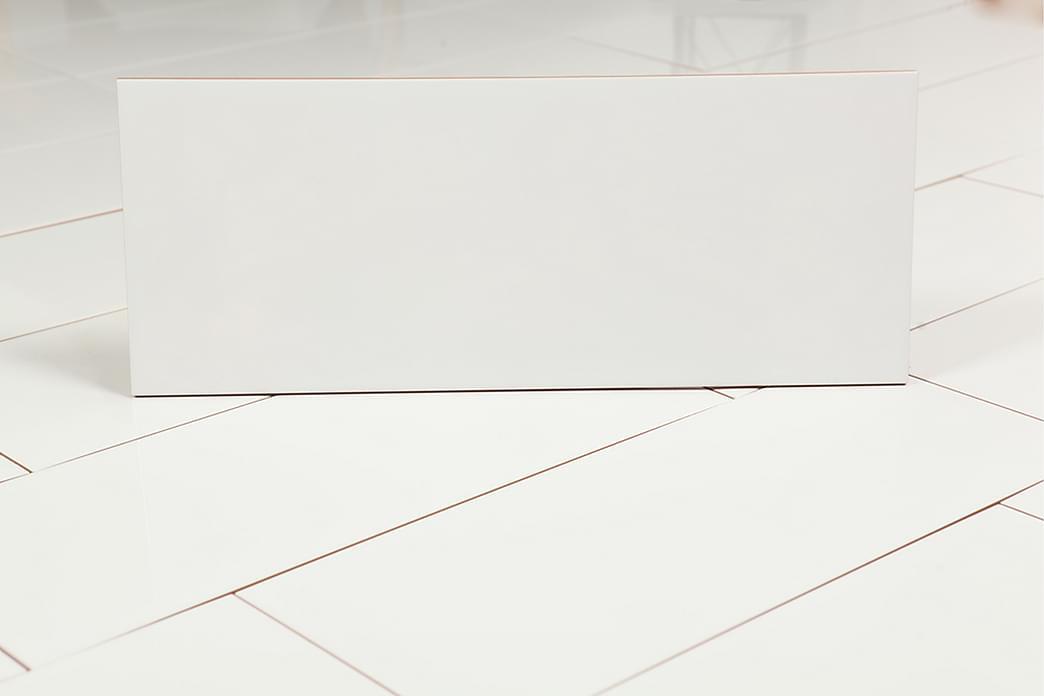 kakel Hvid Blank 20X50 - Fliser & klinker - Fliser - Ensfarvet flise