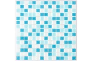Glasmosaik Azul 32,7X32,7