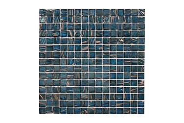 Glasmosaik Petrol Gold 32,7X32,7