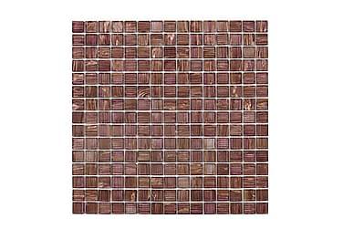 Glasmosaik Purple Gold 32,7x32,7