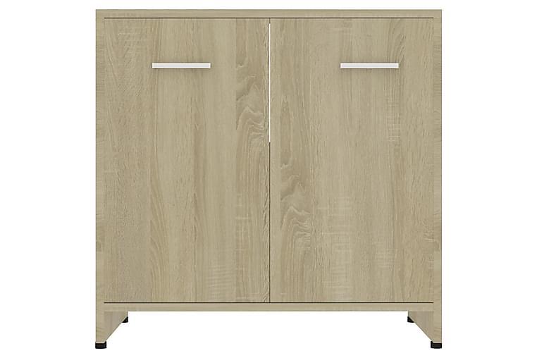 Badeværelsesskab 60X33X58 cm Spånplade Sonoma-Eg - Brun - Badeværelse - Badeværelsesmøbler - Badeværelsesskab
