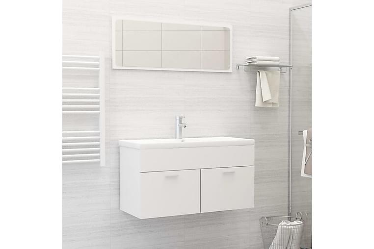 badeværelsesmøbelsæt spånplade hvid - Hvid - Badeværelse - Badeværelsesmøbler - Komplette møbelpakker