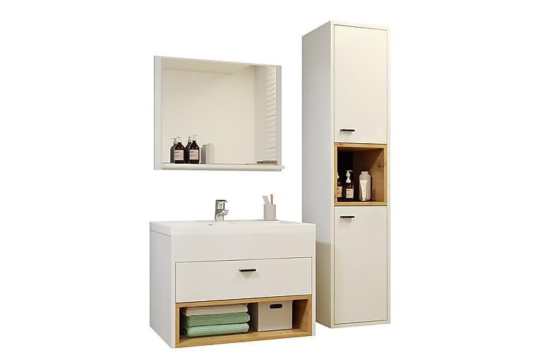 Ekomi Badeværelsessæt - Hvid - Badeværelse - Badeværelsesmøbler - Komplette møbelpakker