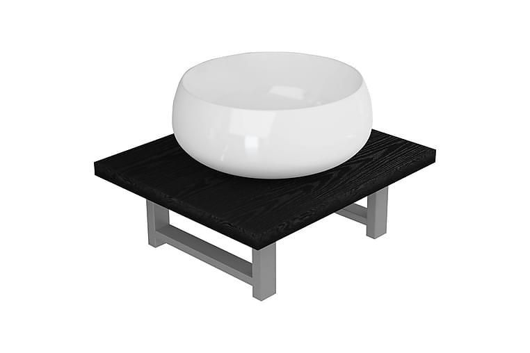Keramisk håndvask med væghylde - Hvid - Badeværelse - Badeværelsesmøbler - Komplette møbelpakker