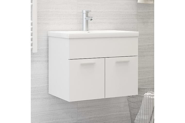 vaskeskab med indbygget håndvask spånplade hvid - Hvid - Badeværelse - Badeværelsesmøbler - Underskabe
