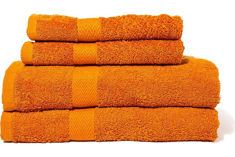 Queen Anne Frotté Badelagen 150x90 cm - Orange - Boligtilbehør - Tekstiler - Badeværelsestekstiler