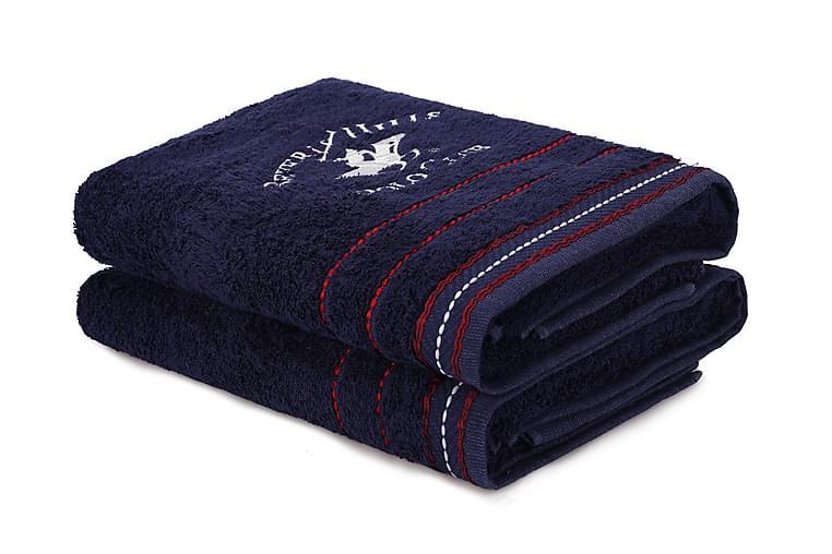 Tarilonte Badehåndklæde 2-pak - Blå - Boligtilbehør - Tekstiler - Badeværelsestekstiler