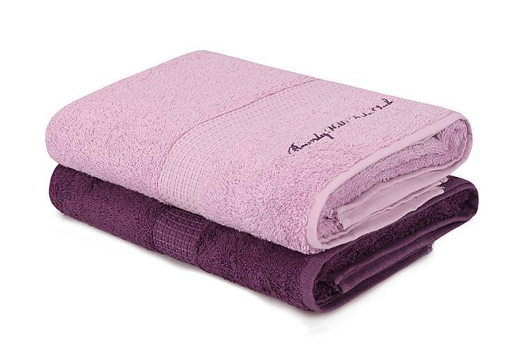 Tarilonte Badehåndklæde 2-pak - Lilla - Boligtilbehør - Tekstiler - Badeværelsestekstiler