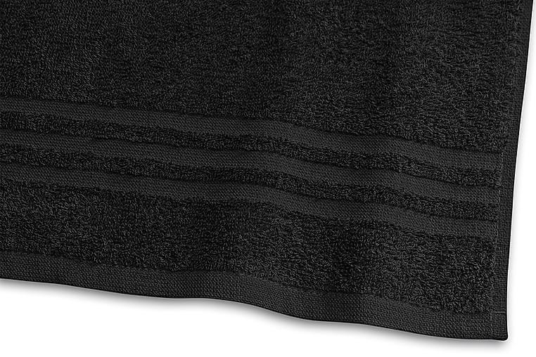 Basic Frotté 30x50 cm Sort - Borganäs - Boligtilbehør - Tekstiler - Badeværelsestekstiler