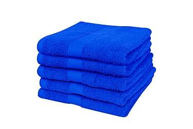 Håndklædesæt 5 Stk. Bomuld 500 Gsm 50X100 Cm Kongeblå