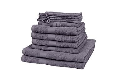 Håndklædesæt I 12 Dele Bomuld 500 Gsm Antracitgrå