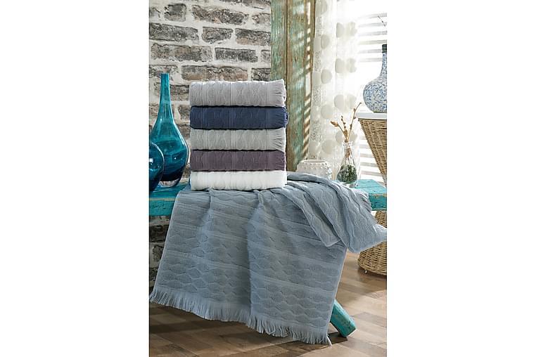 Landercost Håndklæde 6-pak - Hvid/Blå/Lilla/Grå - Boligtilbehør - Tekstiler - Badeværelsestekstiler