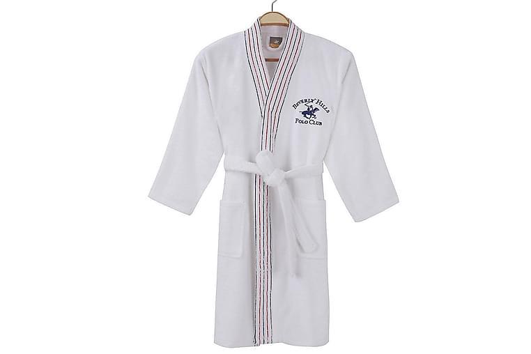 Beverly Hills Polo Club Badekåbe Herre S/M - Hvid - Boligtilbehør - Tekstiler - Badeværelsestekstiler