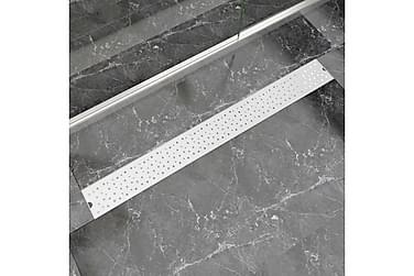 Lineært Bruseafløb Bobledesign 1030X140 Mm Rustfrit Stål