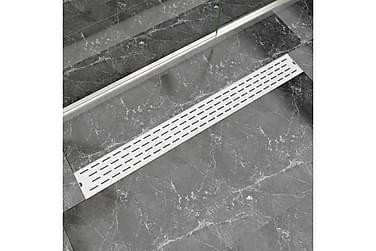 Lineært Bruseafløb Linjedesign 1030X140 Mm Rustfrit Stål
