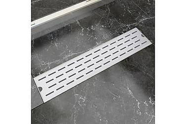 Lineært Bruseafløb Linjedesign 530X140 Mm Rustfrit Stål
