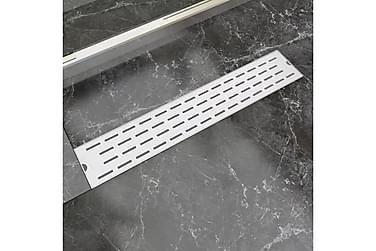 Lineært Bruseafløb Linjedesign 630X140 Mm Rustfrit Stål