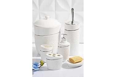 Kosova tilbehør til badeværelset Sæt med 6 ben porcelæn