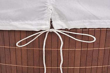 Vasketøjskurv Bambus Oval Brun