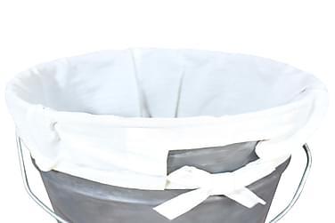 Vasketøjskurv Jern Genbrugs 30X30X58 Cm