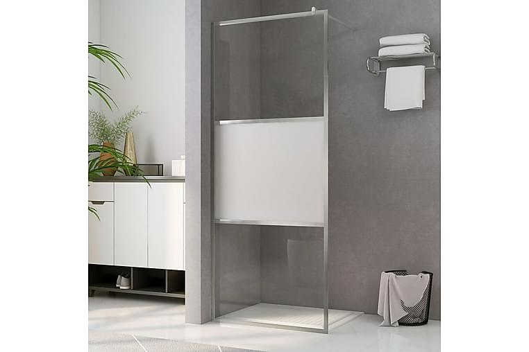 Brusevæg Med Halvt Matteret Esg-Glas 140x195 cm - Badeværelse - Bruser - Brusevægge