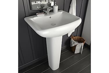 Fritstående Vask m Piedestal Keramik 580 X 470 X 200 Mm