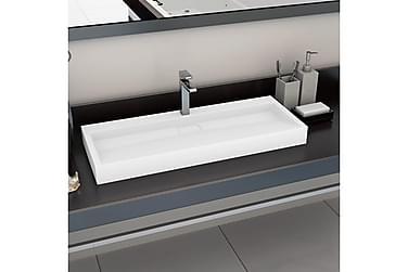 Håndvask 120 X 46 X 11 Cm Mineralstøbt/Marmorstøbt Hvid