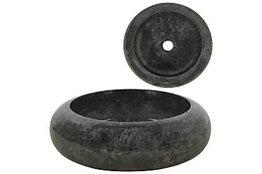 Håndvask 40 X 12 Cm Marmor Sort