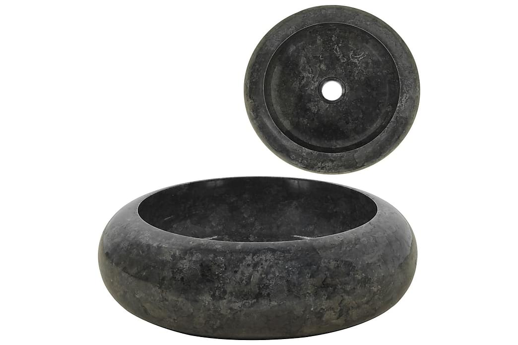 håndvask 40 x 12 cm marmor sort - Sort - Badeværelse - Håndvaske - Små håndvaske
