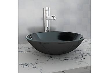 Håndvask I Hærdet Glas 42 Cm Sort
