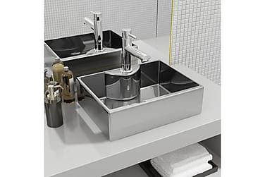 Håndvask m Vandhanehul 48 X 37 X 13,5 Cm Keramik