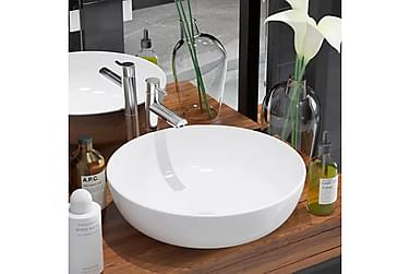 Håndvask Rund Keramik 41,5 X 13,5 Cm Hvid