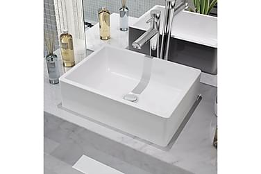 Håndvask Rund Keramik 41X30X12 Cm Hvid