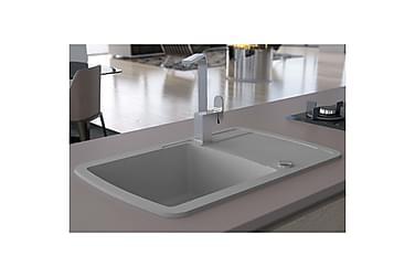 Køkkenvask I Granit Enkelt Vask Grå