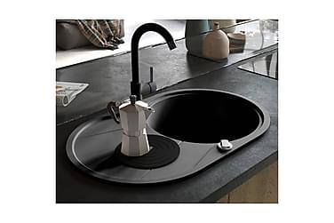 Køkkenvask I Granit Enkelt Vask Oval Sort