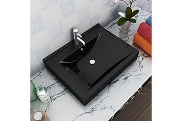 Keramisk Firkantet Håndvask M. Hanehul 60X46 Cm