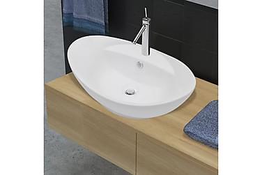 Sink Yddingen Hvid Ceramic Overflod Beskyttelse