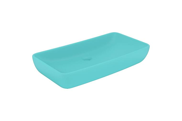 Luksuriøs Håndvask 71x38 cm Rektangulær Keramik Mat Lysegrøn - Badeværelse - Håndvaske - Små håndvaske