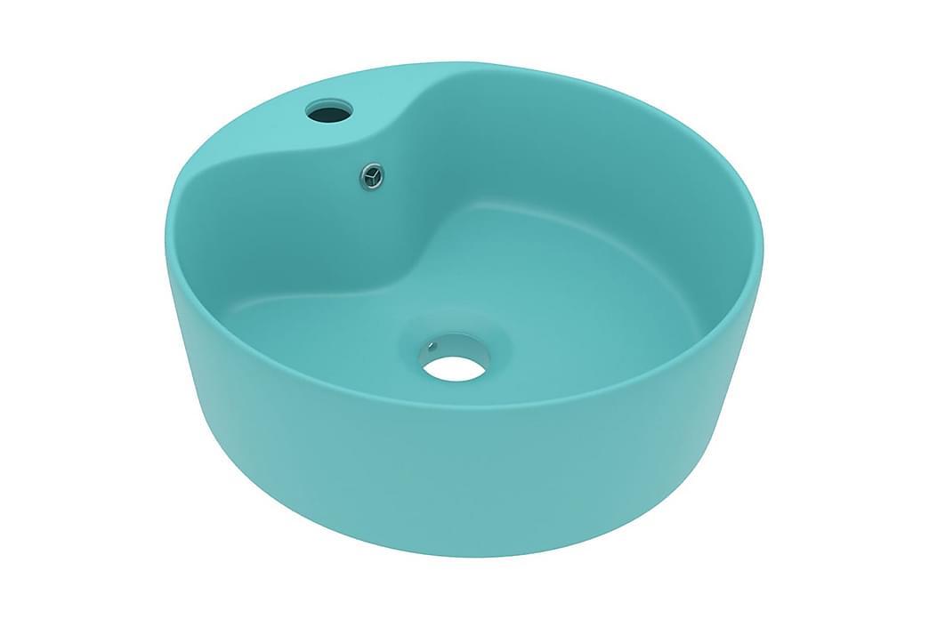 Luksuriøs Håndvask Med Overløb 36x13 cm Keramik Mat Lysegrøn - Badeværelse - Håndvaske - Små håndvaske