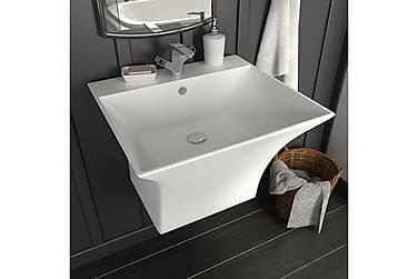 Væghængt Håndvask Keramik 500 X 450 X 410 Mm Hvid