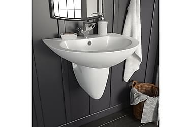 Håndvask Væghængt Keramik Hvid 520 X 450 X 190 Mm
