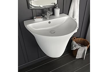 Håndvask Væghængt Keramik Hvid 560 X 480 X 420 Mm