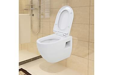 Væghængt Toilet Med Skjult Cisterne Keramik Hvid
