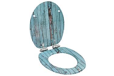 Toiletsæder 2 Stk. Med Soft Close-Låg Mdf Gammelt Trædesign