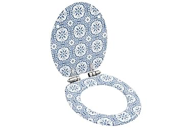 Toiletsæder 2 Stk. Med Soft Close-Låg Mdf Porcelændesign