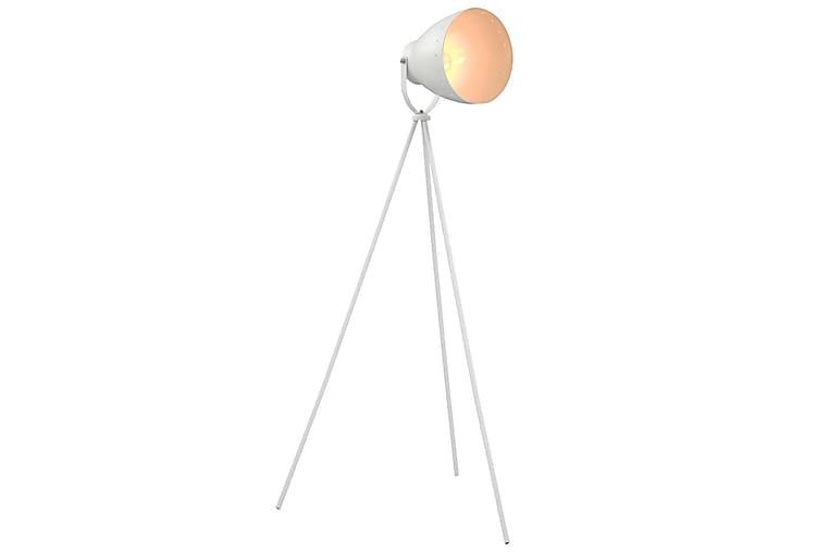 Gulvlampe Med Trefod E27 Metal Hvid - Hvid - Belysning - Lamper - Gulvlampe & standerlampe
