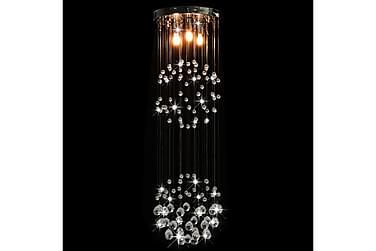 Loftlampe m Krystalperler Kugleformet 3 X G9-Pærer