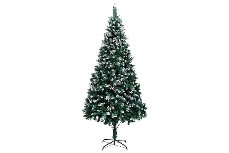 Kunstigt Juletræ Med Grankogler Og Hvid Sne 210 cm - Boligtilbehør - Dekoration - Juelpynt og juledekoration