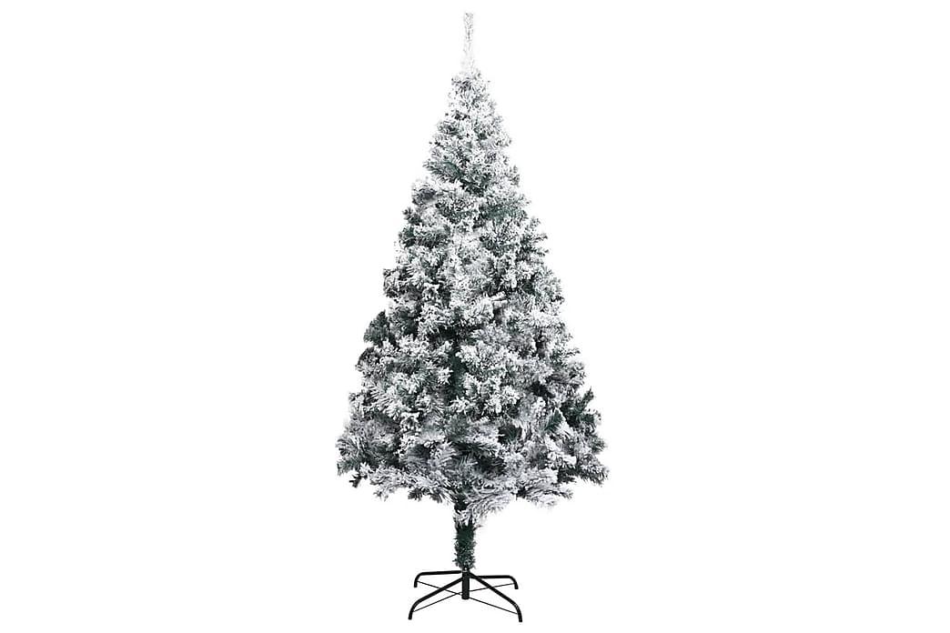 Kunstigt Juletræ Med Puddersne 240 cm Pvc Grøn - Boligtilbehør - Dekoration - Juelpynt og juledekoration