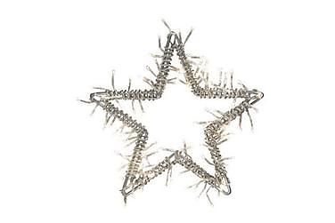 NINA Dekoration Stjerne 100L Sølv